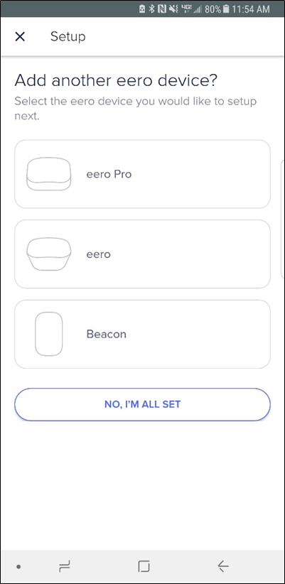 Adding another eero device