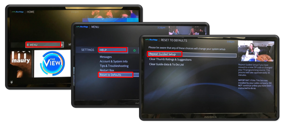 TiVo Repeat Guided Setup
