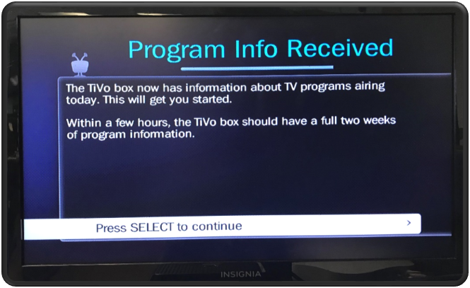 Program Info Received