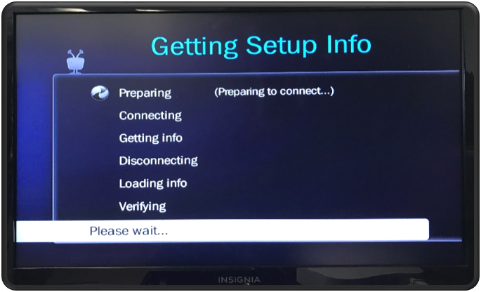 Getting Setup Info - Please Wait