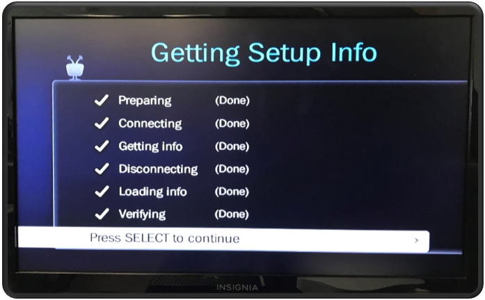 Getting Setup Info - Select to Continue